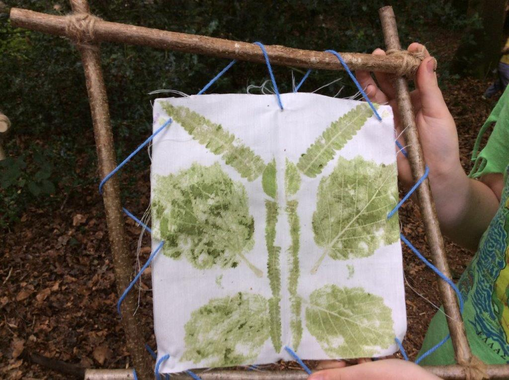 Butterfly leaf print