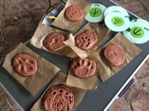 Use clay as another alternative for making footprints